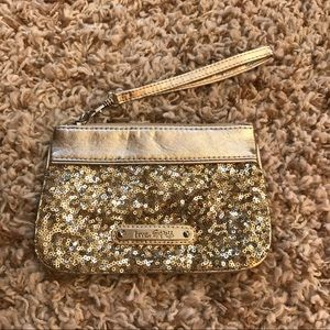 Express Gold Sequined Wristlet